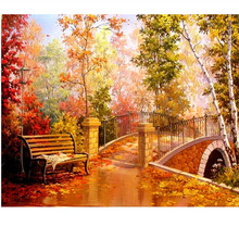 Hot Sale Diy 5D Diamond Painting Autumn Pond Full Round Mosaic Picture Embroidery Landscape Pattern Rhinestones