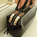 Крокодиловая кожа узор марка женщины сумочка большой сумка-тоут женщины кожа сумки сумки сумка-мессенджер Q4 F260