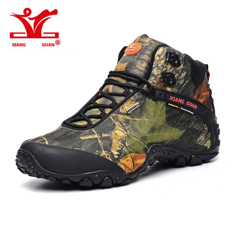 XIANGGUAN Man Outdoor Shoes Waterproof Breathable Hiking Shoes,For Women Climbing Outdoor Trekking Sneakers EUR SIZE 36-48 2016 man women s brand hiking shoes climbing outdoor waterproof river trekking shoes