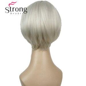 Image 4 - قوي الجمال قصيرة لينة بيضاء شعر مستعار أشقر الحرارة freindy الاصطناعية شعر مستعار كامل للنساء