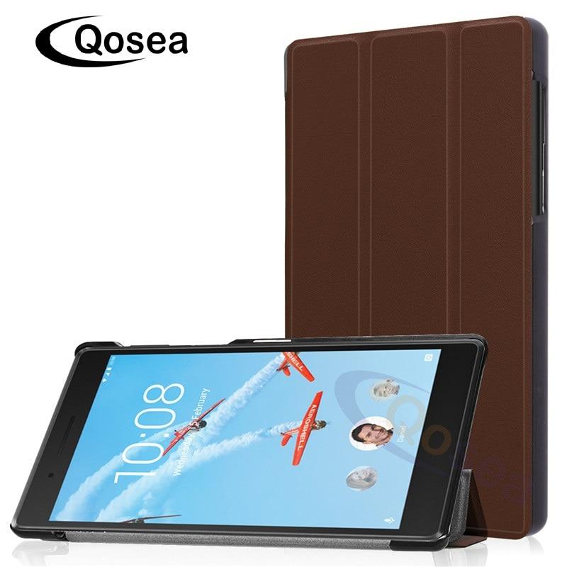 Qosea Aimant PU En Cuir Pour Lenovo Tab 7.0 2017 TB-7504 7504F 7504I 7504X Smart Cas de Stand 7.0 pouce Tablet PC Stand Retour couverture