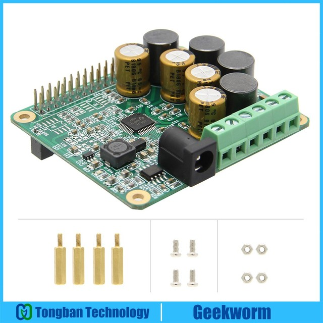 Raspberry Pi เครื่องขยายเสียง HIFI AMP บอร์ดขยายเสียงโมดูล w/Raspberry Pi 4 รุ่น B/Pi 3 รุ่น B +/3B/2B/B +
