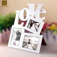 Creative Gift Photo Box Wedding Combination Frame Wooden Frames White Picture Frames Porta Retrato Moldura Home Decor LKM035