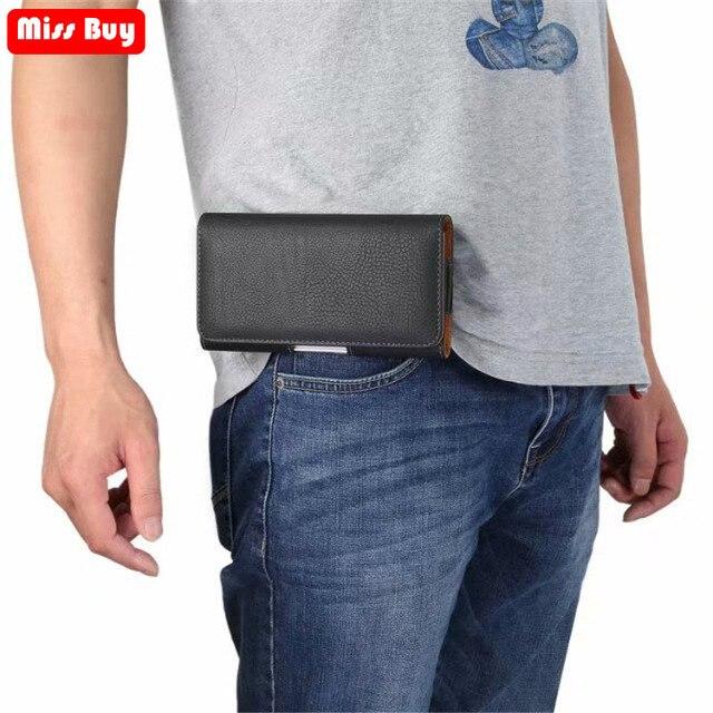 Teléfono bolsa cintura para Xiaomi mi 9 8 iPhone 6 5 5S rojo mi S2 Nota 7 5 6 Pro 4 4X 6A 5A 4A A1 A2 cubierta de cuero funda bolsa