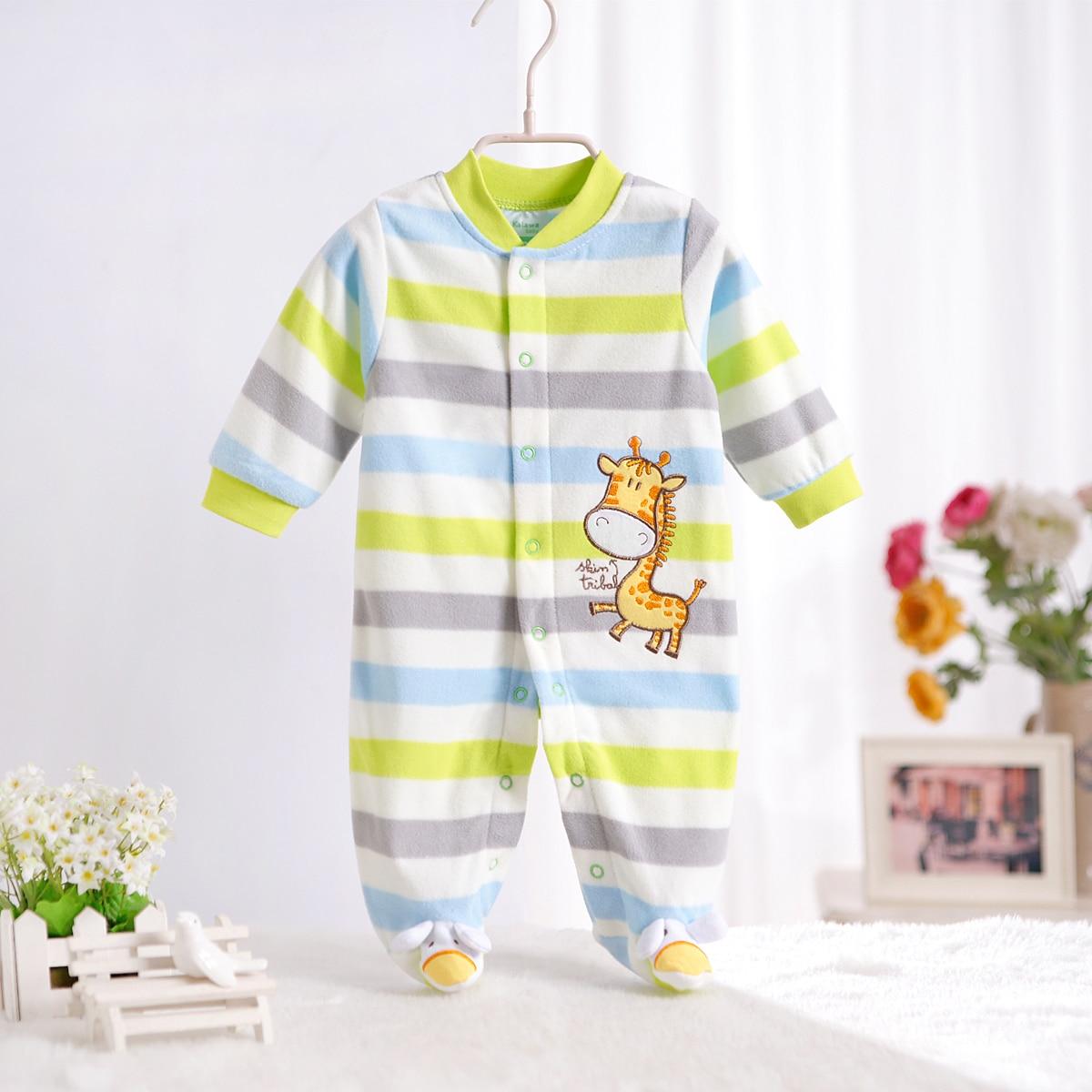 1 stycke Baby Boy Rompers Bomull Långärmad O-Hals Nyfödda Baby - Babykläder
