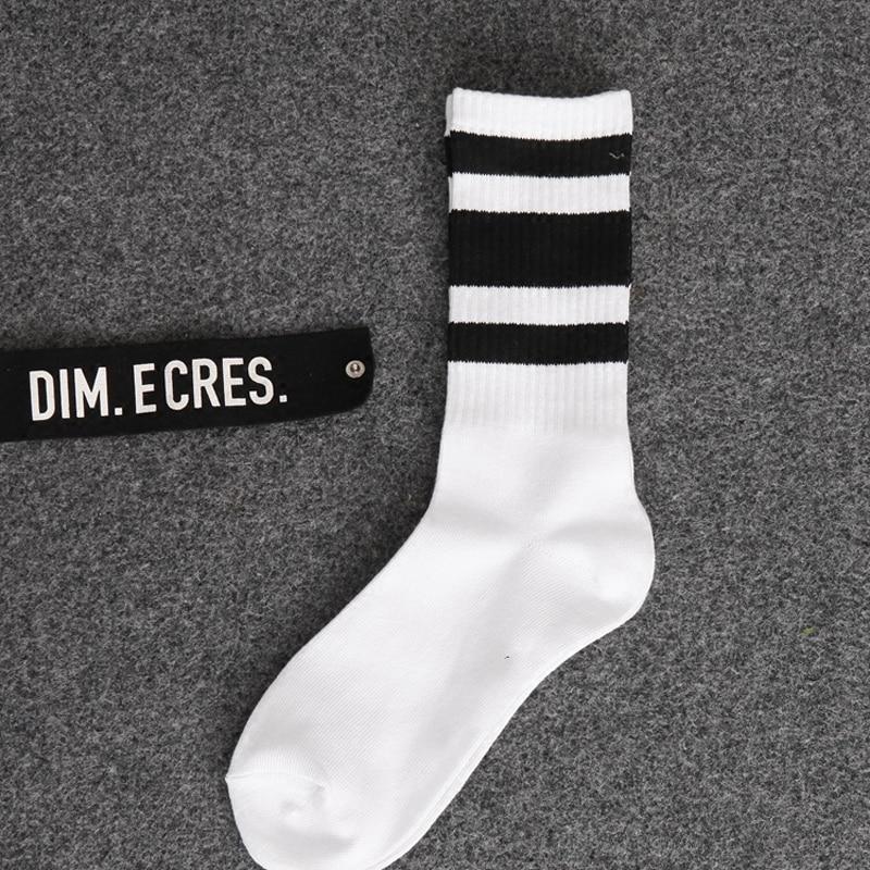 Hipster Man Crew Skateboard Socks Mens Ins Style Classic Striped Fashion Cotton Short Socks Autumn Harajuku Art Socks Male Sox Underwear & Sleepwears