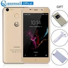 Gooweel M15 4G mobile téléphone D'empreintes Digitales MTK6737 Quad core 5.0 pouces HD Android6.0 smartphone 2 GB 16 GB téléphone portable 8MP LIVRAISON CADEAU