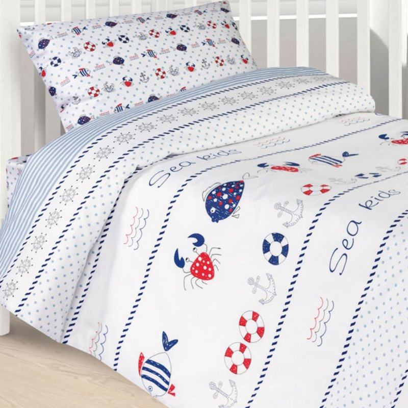 Baby bedding SEA, 100% Cotton. Beautiful, Bedding Set from Russia, excellent quality. Produced by the company Ecotex 3 pcs set baby bedding set for cot cotton soft no irritation baby bed set quilt cover cot sheet pillow case newborn bedding