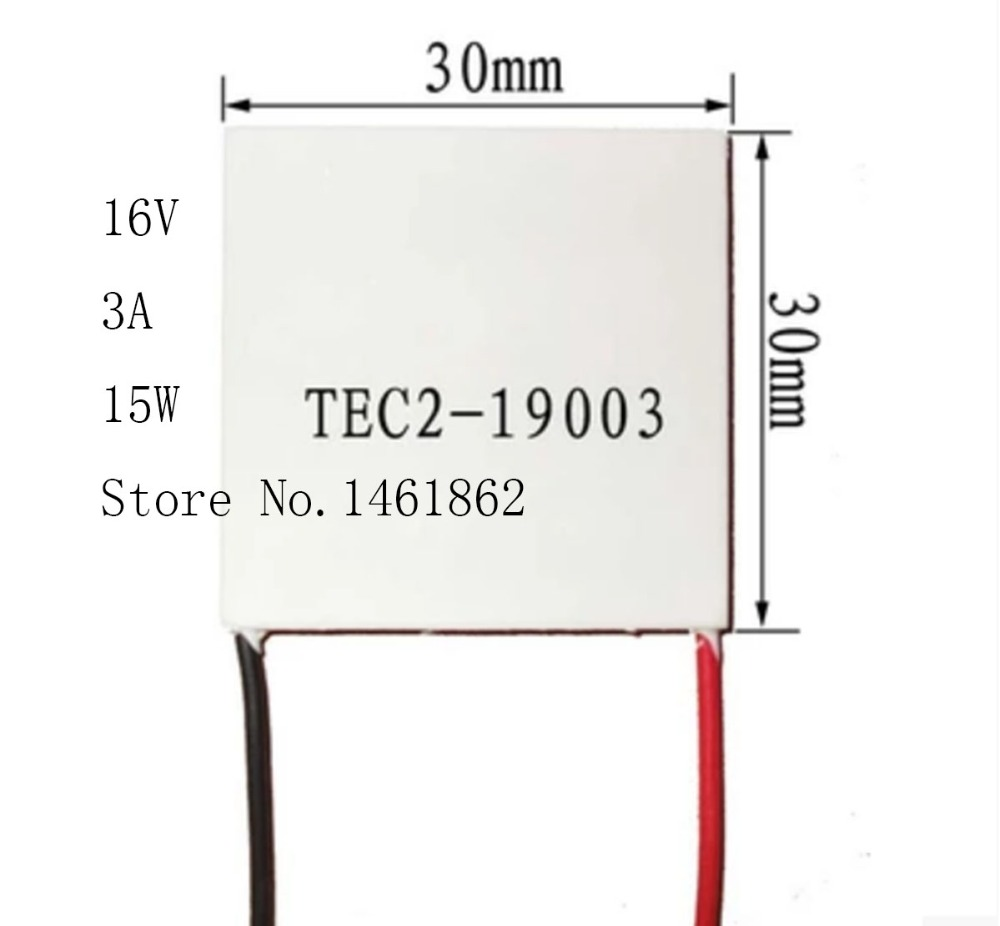 TEC2-19003  3A 16V 15W 30*30MM  double layer semiconductor chip cooling temperature 80 degrees cooler Electronic Components tec2 19003 3a 16v 15w 30 30mm double