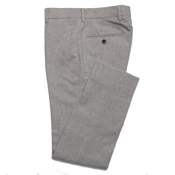 2019 modne szare spodnie flanelowe męskie spodnie biznesowe Slim Fit wykonane na zamówienie szare spodnie flanelowe dopasowane spodnie ciepła wełna tanie i dobre opinie dower me CN (pochodzenie) Custom Made Rayon Z wełny Mieszkanie Formalne Zipper fly Garnitur spodnie