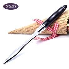CCCAGYA F002 нож из нержавеющей стали для резки бумаги. Ручка школьные офисные подарки аксессуары открытые письма нож принадлежности. Распаковка инструмент