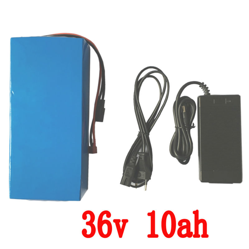 36v 10Ah Battery 500W Rechargeable Lithium Battery 36v with 2A charger 15A BMS Scooter eBike Battery 36v Russia Free Shipping liitokala 36v 6ah 10s3p 18650 rechargeable battery pack modified bicycles electric vehicle protection with pcb 36v 2a charger