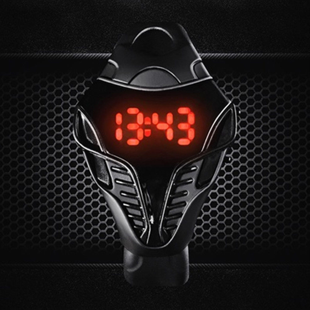 Children Fashion Sport Reminder Led Digital Watch Calendar Unisex Cool Gift Valentine's Day Silicone Wristwatch Triangle Dial