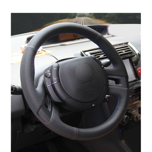 Image 4 - Hand stitched Black PU Artificial Leather Car Steering Wheel Cover for Citroen C4 Picasso 2007 2013