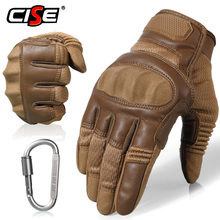 Touchscreen Leather Motorcycle Skidproof Hard Knuckle Full Finger Gloves Protective Gear f