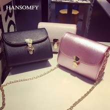 HANSOMFY Summer Chain Mini Crossbody Bag 2017 New Messenger Bag Female Korean Version Shoulder Bag Small Leather Satchels mujer