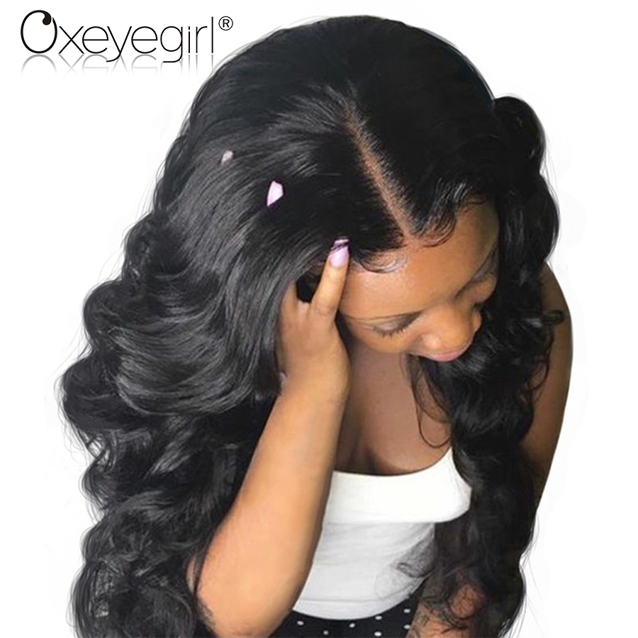 Oxeye girl Brazilian Body Wave Full Lace Human Hair Wigs With Baby Hair 130% Density Hand Tied Non-Remy Human Hair Wig 8″-24″