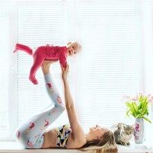 Whimsical Blue Mermaid Leggings Pilates High Waist Yoga Pants Cartoon Printed Workout Running Tights Jogging Gym Clothes