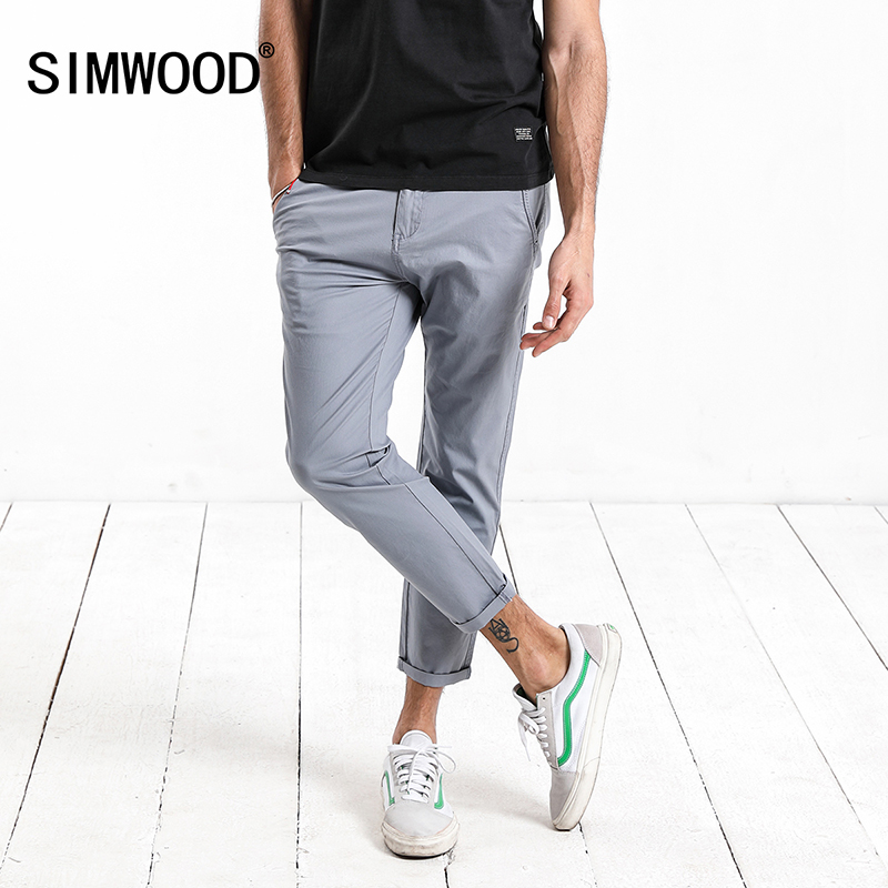 SIMWOOD 2018 New Summer Autumn Casual Pants Men Fashion Trousers Brand Clothing Slim Fit Plus Size High Quality 180082