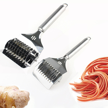 OLOEY Kitchenware Manual Noodles Cutter Maker Stainless Steel Noodle Cutting Slicer Garlic Spaghett Lattice Roller Divider Tools цена и фото