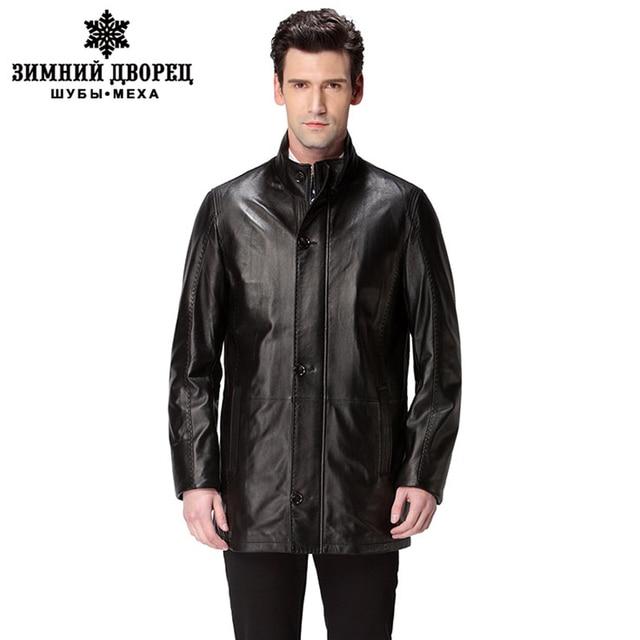 Best Seller leather jacket,Genuine Leather,Mandarin Collar,Sheepskin,Coat male,Leather jacket men,mens leather jackets and coats