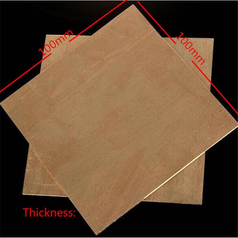 Высокое качество 1 шт. 3x100x100 мм 99.9% Медь Cu листового металла пластины хороший механические свойства и термальность стабильность