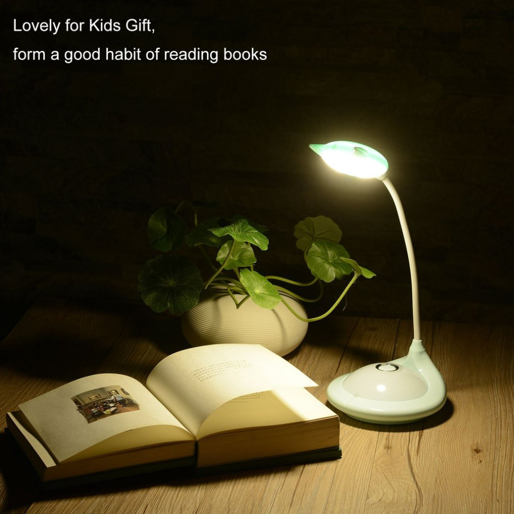 High Quality Arbitrary Adjustable Cute 3 Modes Touchable 20 LED Eye-Protecting Rechargeable Table Reading Lamp for Kids Gift