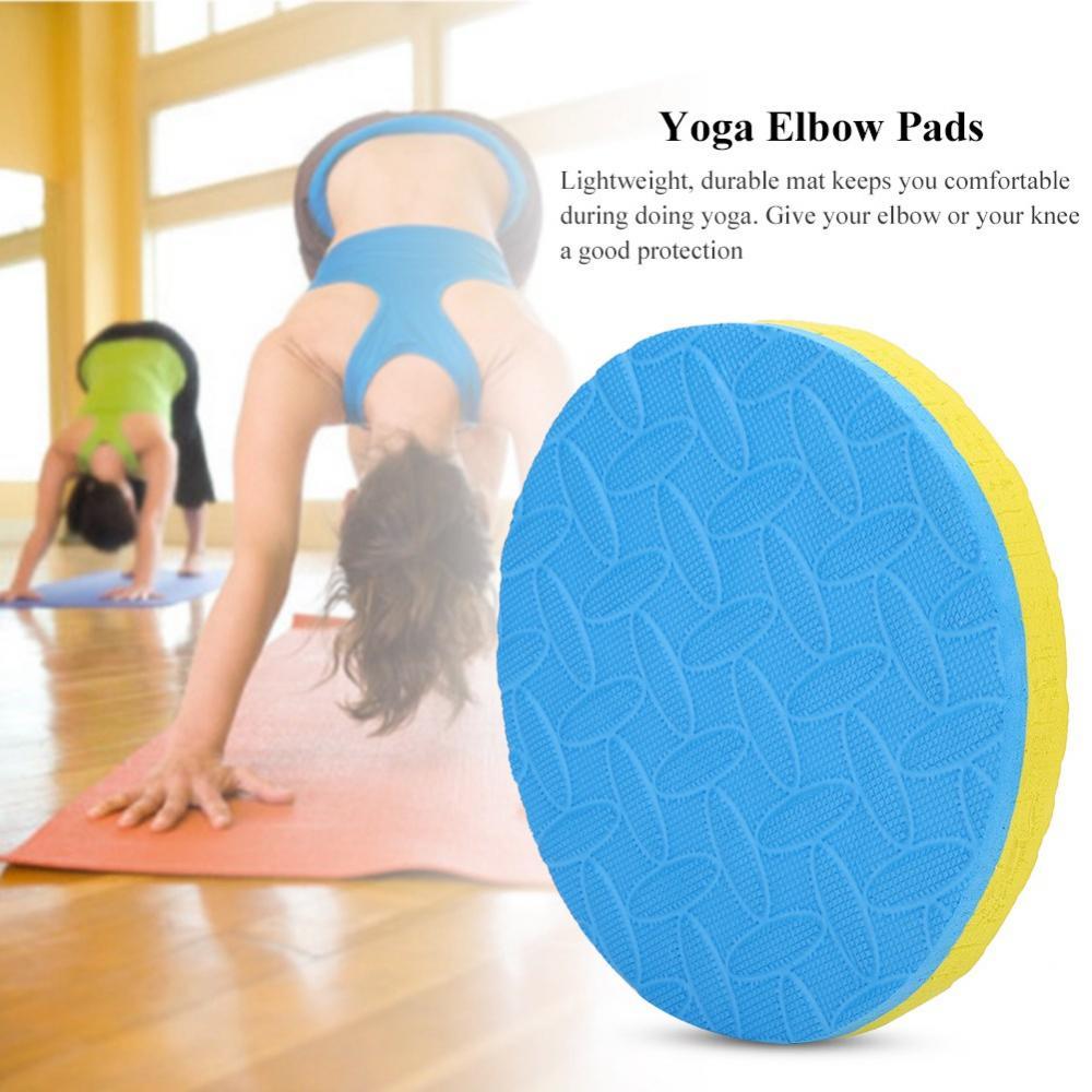 2 Stücke Yoga Workout Knie Ellenbogen Training Pad Eva-schaum Kissen Übung Matten