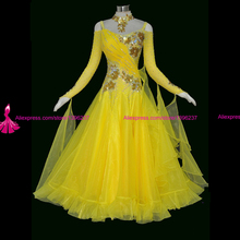 ballroom dance dresses quality Competition dress Modern Waltz Tango juvenile Dress Custom made flamenco