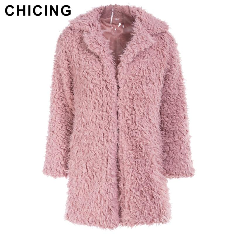 CHICING High Street Women Fashion Faux Coats Autumn Winter L