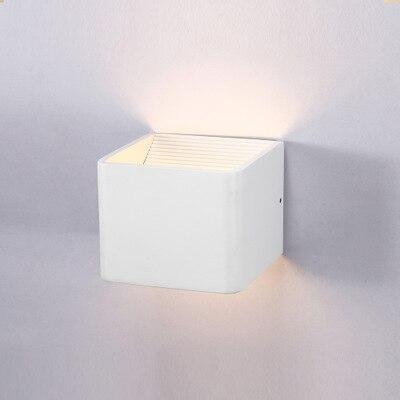 T настенный светильник квадратный Алюминий двойной головкой Спальня ночники современный простой интерьер LED hotel проекта Огни