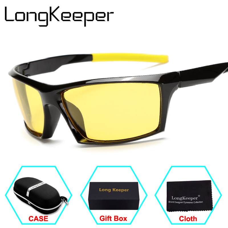 LongKeeper 2017 New Fashion Polarized Sunglasses Men Travel Sun Glasses For Driving Golfing Eyewear Gafas De Sol With Case
