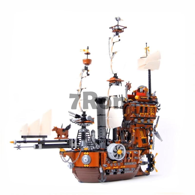 Compatible with Lego Pirate Ship Series 70810 model 16002 2791pcs Metal Beard's Sea Cow building blocks bricks toys for children
