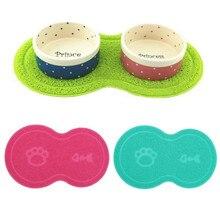 New Colorful Pet Dog Puppy Cat Feeding Mat Pad Cute PVC Bed Dish Bowl Food Water