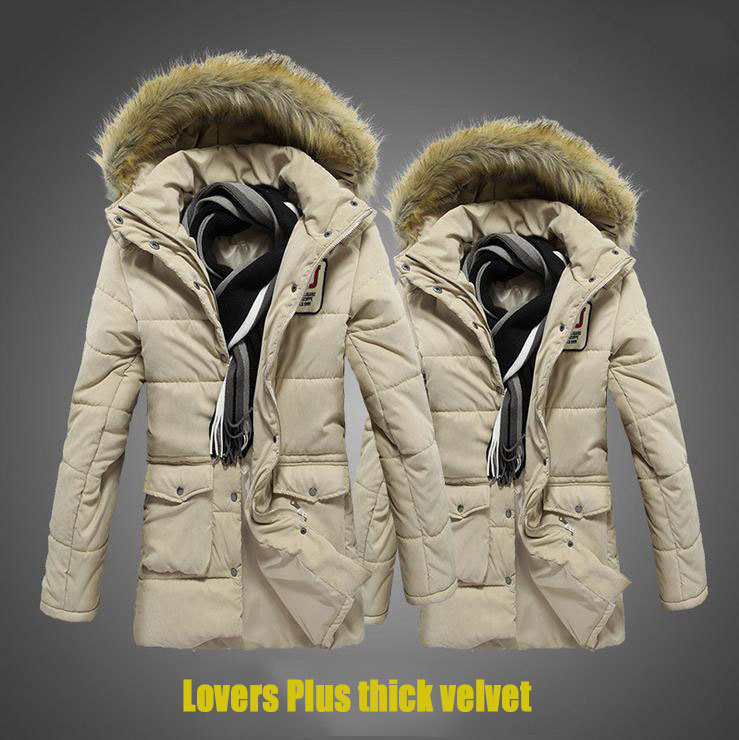 Korean Style & Parkas 2014 Young Mens Winter Coats Long Parka Fur Hoodie Men Lovers Brand Cotton-Padded Jacket - Egosumme Fashion Clothing Store store