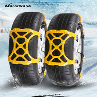 MALUOKASA 2PC 4PCs Adjustable Auto Snow Chains Anti Skid Car Tyre Wheels Winter Safety Band Track