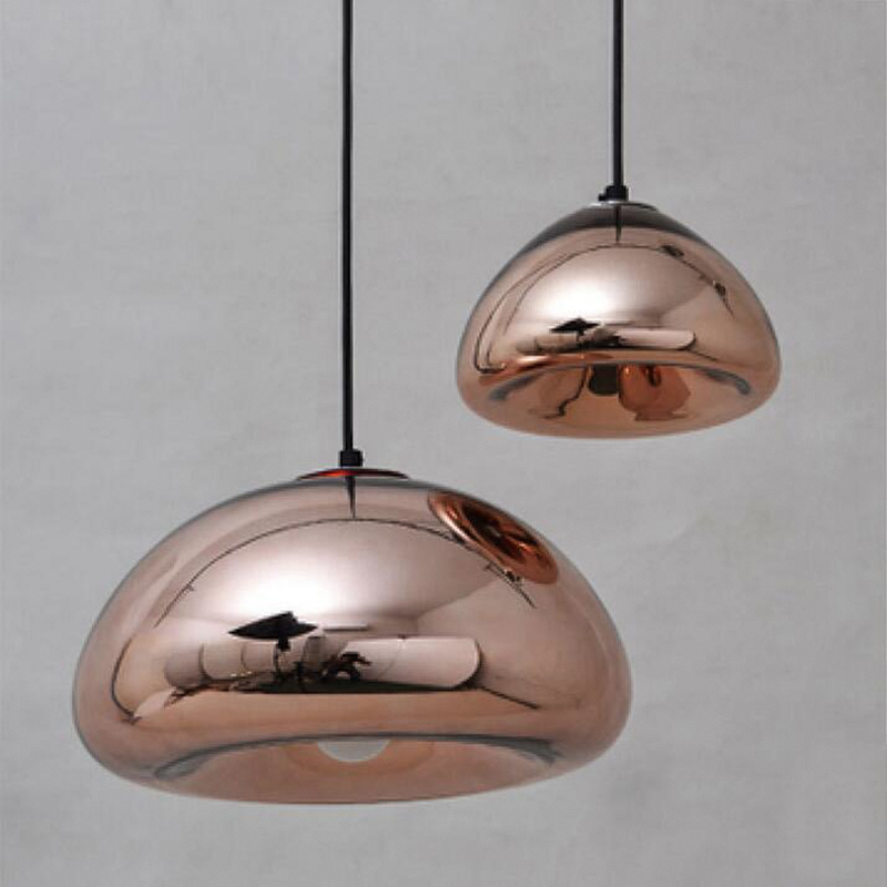 Popular Modern Mirror Bowl Glass LED Pendant Light Void Lamp Colored Hanging Lamps Home Lighting For Cafe Bar Store Coffee Shop Bedroom in Pendant Lights from Model - Inspirational small lantern pendant light Contemporary