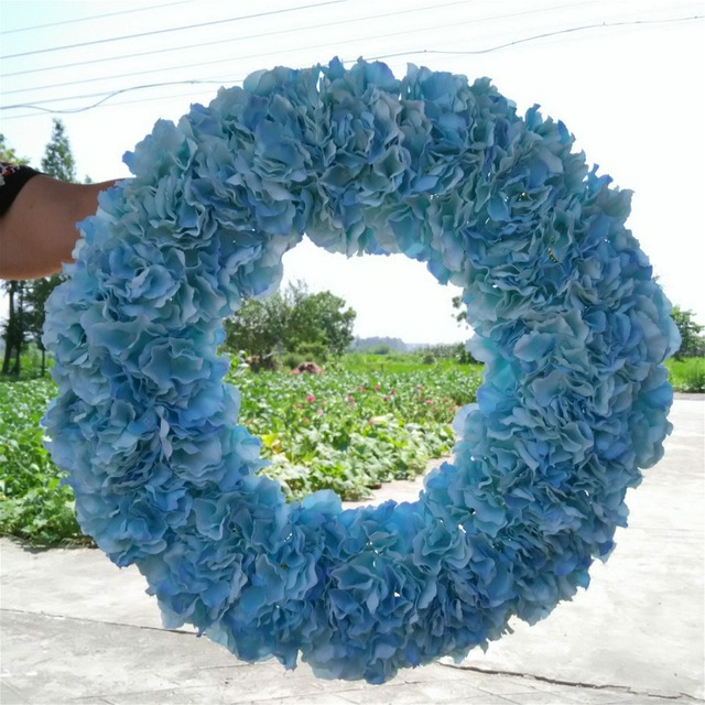 Beach Wedding Centerpieces Skyblue Hydrangea Garland Front Door