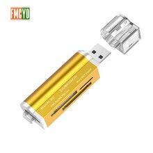 Çoklu 1 bellek SD kart Okuyucu Memory Stick Pro Duo Mikro SD, TF, M2, MMC, SDHC MS kart okuyucu çeşitli renkler