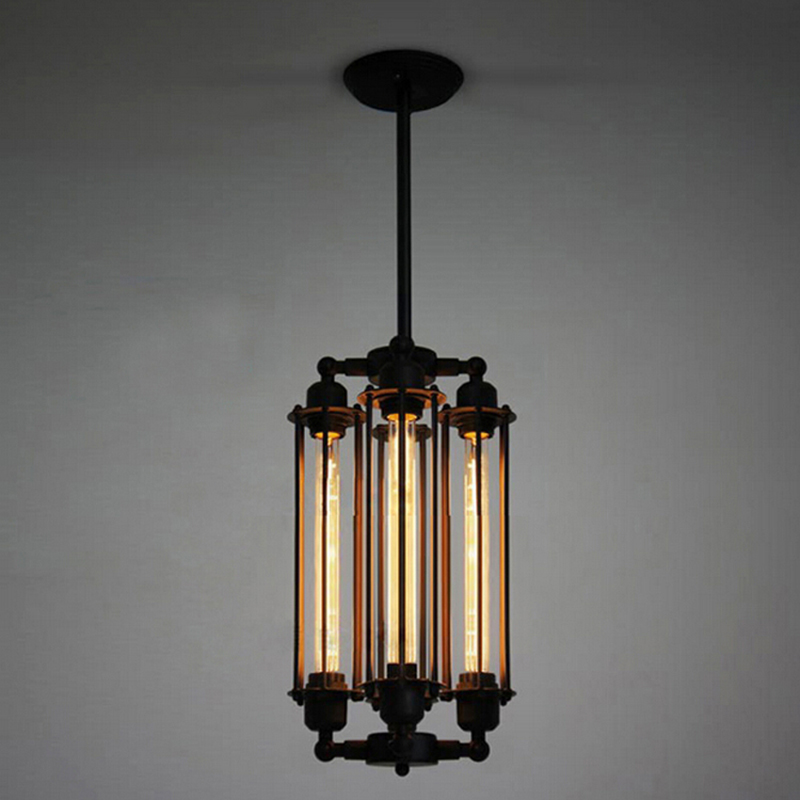 Retro Vintage 4 heads steam pipe ceiling Pendant Lamp E27 Lights Loft Restaurant Master Bedroom Dining room Hotel Room bar cafe loft edison vintage retro cystal glass black iron light ceiling lamp cafe dining bar hotel club coffe shop store restaurant