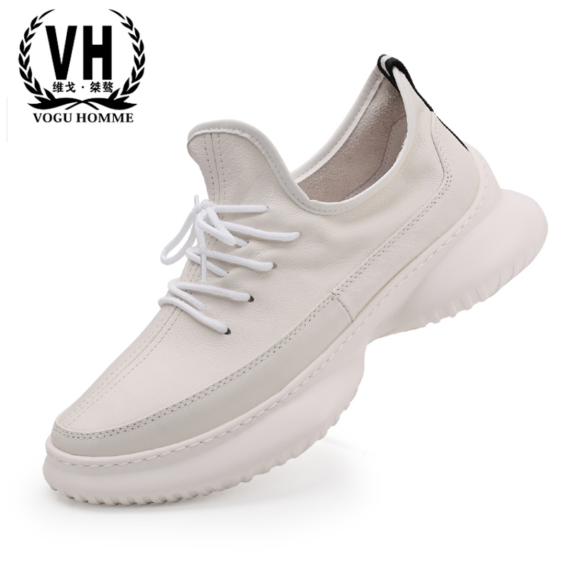 Men's Genuine Leather shoes new Korean fashion sneakers casual white shoes men all-match cowhide spring autumn summer male mycolen 2018 spring autumn sports shoes korean leather women s new small white shoes new fashion cowhide shoes women casual