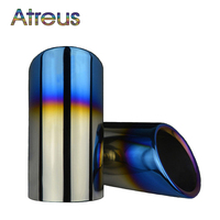 Atreus Car Exhaust Muffler Tip Pipe Auto Accessories For VW Golf 7 6 MK7 Polo Volkswagen
