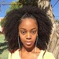 "Clip En Extensiones de Cabello Humano Virginal Mongol Afro Rizado Rizado Afroamericano Del Pelo Humano Clip En Extensiones de 10 ""-26"" Clip de Ins"