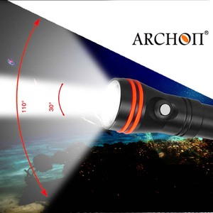Image 4 - Diving Flashlight ARCHON D15VP 100M Diver Diving Video Light White Red * LED Torch 1300 Lumens Underwater Light 18650 Battery