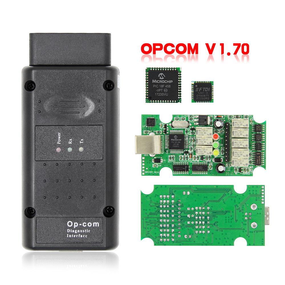OPCOM V5 For Opel OP COM 1.70 flash firmware update OP-COM 1.95 PIC18F458 FIDI CAN BUS OBD OBD2 Scanner Car Diagnostic Auto Tool