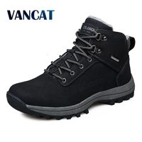 VANCAT Men Boots Winter With Fur 2017 Warm Snow Boots Men Shoes Footwear Fashion Male Rubber