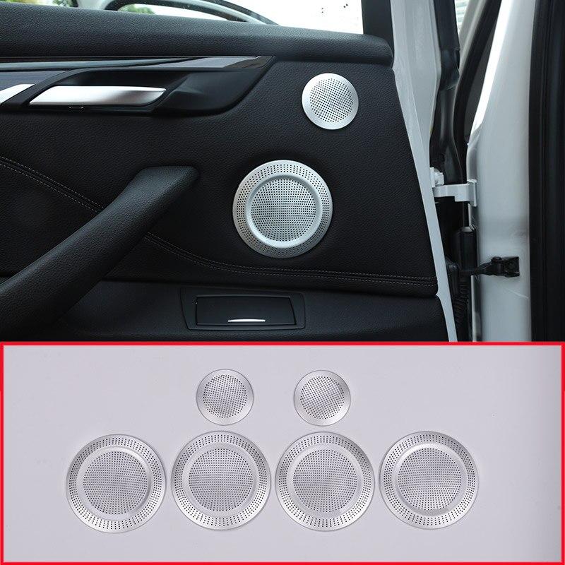 Aluminum Alloy Car Door Speaker Cover Trim For BMW X1 F48 2016-2019 Accessories