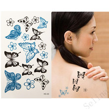 Water Transfer Butterfly Waterproof Temporary Tattoo Sticker Body Art Sexy Product