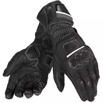 Motocykl Dain Druids rękawice Off-wyścigi drogowe motocykl uliczny z włókna węglowego męskie rękawiczki czarne tanie i dobre opinie WILLBROS CN (pochodzenie) Z pełnym palcem Skórzane Mężczyźni