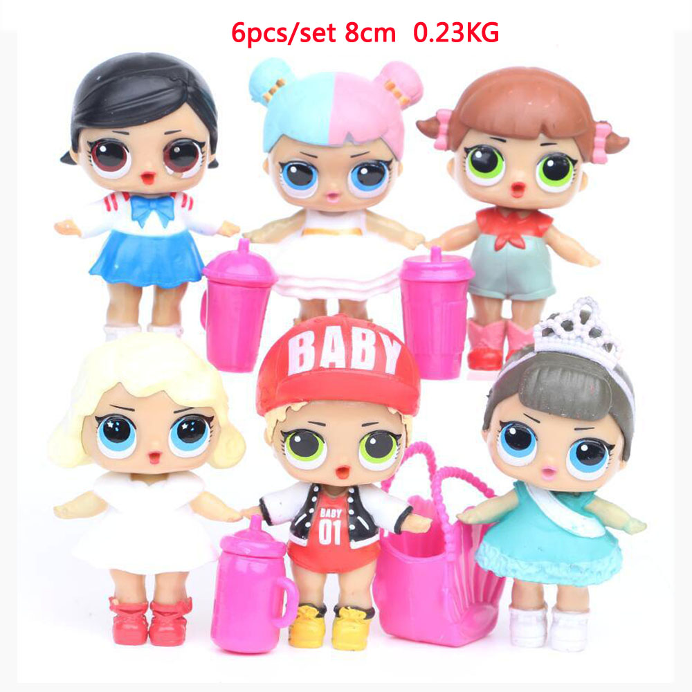 8cs/6pcs/4pcs lol Surprise Serie 2 DOLL Model Toy Figure for Baby Xmas Gift 6.5-9 cm